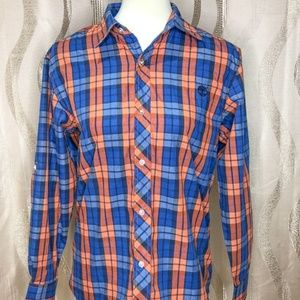 Timberland Plaid Button Down. Size L.